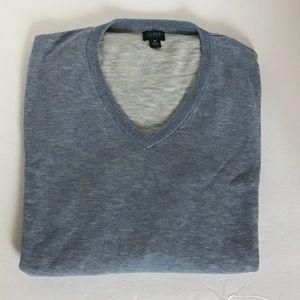 J.CREW Light Blue Long Sleeve V Neck Sweater